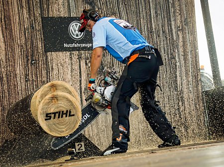 Robert Ebner Hot Saw, © STIHL® TIMBERSPORTS®