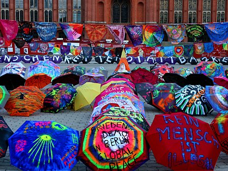 Umbrella Peace Art